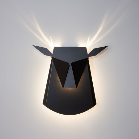 Deer head - Aluminum lamp - Black