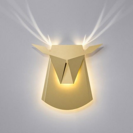 Deer head - Aluminum lamp - Gold