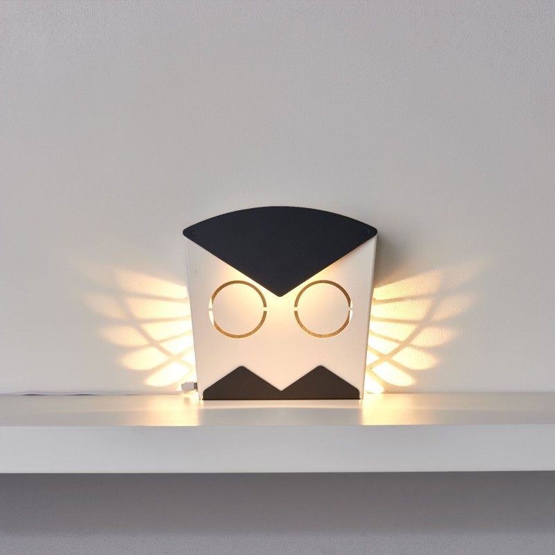 Owl - Aluminum lamp - Black